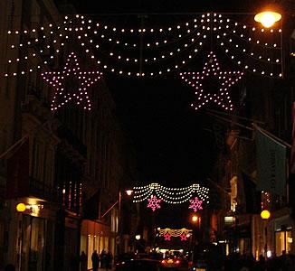 christmas lights in london 2004 regent street oxford street bond street trafalgar square