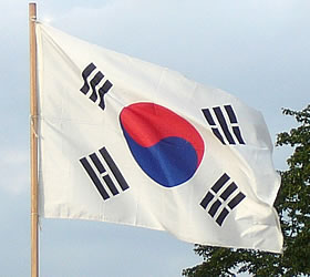 The North Korean flag contains