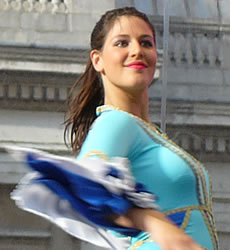 Simcha on the Square       Jewish culture in London     s Trafalgar Square UK Student Life     stage in a range of traditional costumes representing the various Jewish traditions  One of the highlights was a dance to one of the songs from the film