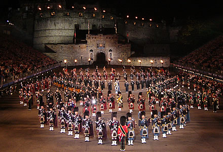 Edinburgh Tattoo (military display outside Edinburgh Castle)