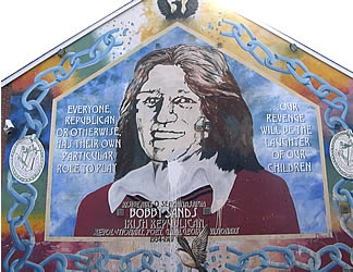 Visit belfast in northern ireland tourist guide photos for Bobby sands mural