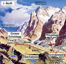Grindelwald tourist information for the Jungfrau Region of Switzerland