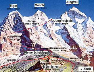 Grindelwald tourist information for the Jungfrau Region of Switzerland